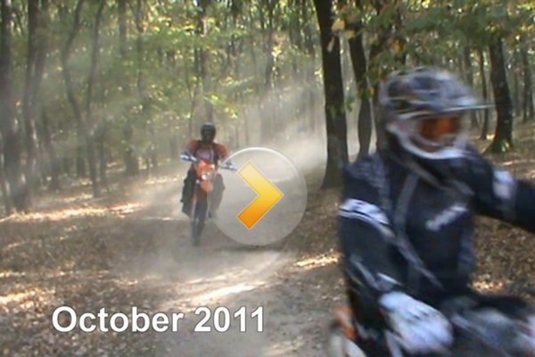 Enduro through forest