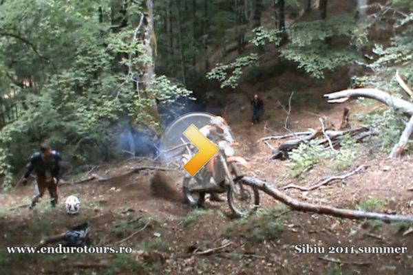Enduro difficult hill climbing