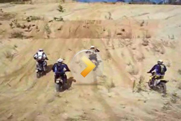 Dusty hill climb